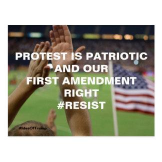 Cartão Postal O protesto é resistência patriótica da Primeira