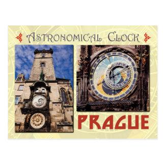 Cartão Postal O pulso de disparo astronômico de Praga, república