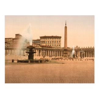 Cartão Postal O quadrado de St Peter, Cidade do Vaticano