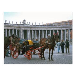 Cartão Postal O quadrado, o cavalo e a carruagem de St Peter