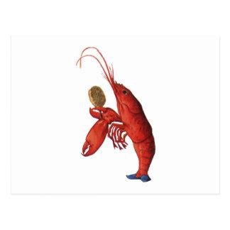 Cartão Postal O Quadrille da lagosta