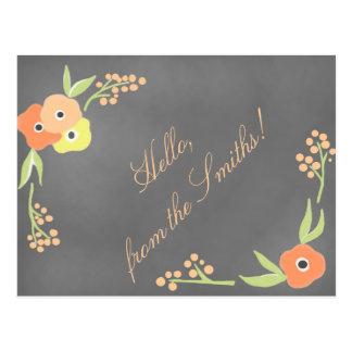 Cartão Postal O quadro inspirou o papel de carta floral