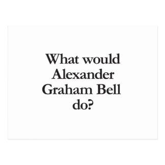 Cartão Postal o que Alexander Graham Bell faria
