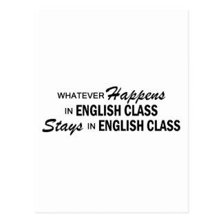 Cartão Postal O que quer que acontece - classe inglesa