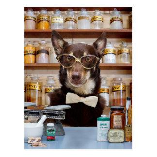 Cartão Postal O químico