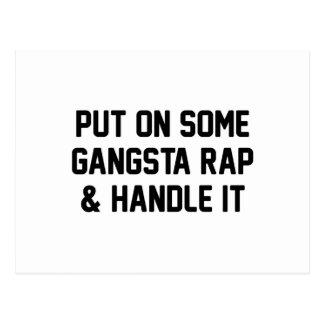Cartão Postal O rap de Gangsta & segura-o