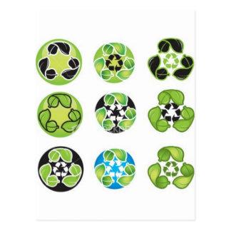 Cartão Postal o reciclar vai verde