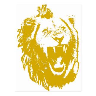 Cartão Postal O rei Discurso do leão