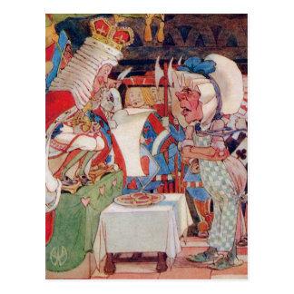 Cartão Postal O rei dos corações questiona o cozinheiro