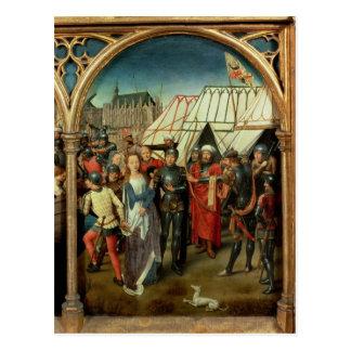 Cartão Postal O relicário de St Ursula, 1489