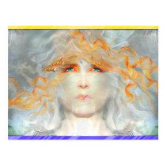 Cartão Postal O respingo da cor compo a fantasia da arte