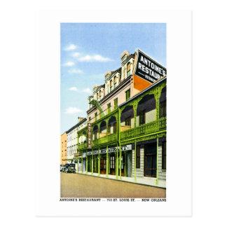 Cartão Postal O restaurante de Antoine, Nova Orleães, LA
