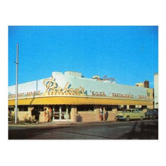 Cartão Postal O restaurante de Parham, vintage de Miami Beach FL