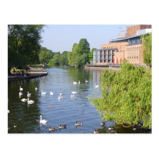 Cartão Postal O rio Avon em Stratford-em cima-Avon