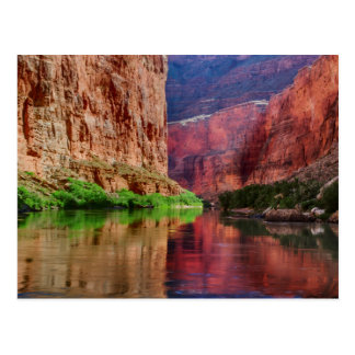 Cartão Postal O Rio Colorado no Grand Canyon, AZ