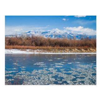 Cartão Postal O Rio Colorado no inverno