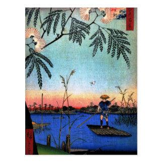 Cartão Postal O rio de Ayase e o Kanegafuchi (綾瀬川鐘か淵)