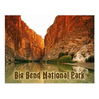 Cartão Postal O Rio Grande, curvatura grande NP, Texas
