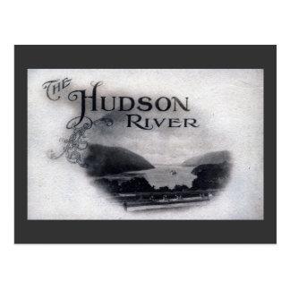 Cartão Postal O Rio Hudson, New York, vintage 1921