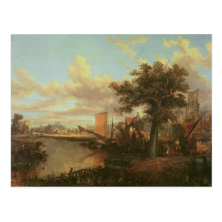 Cartão Postal O rio Yare com uma vista distante de Norwich