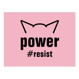 Cartão Postal O rosa das orelhas de gato do poder do bichano