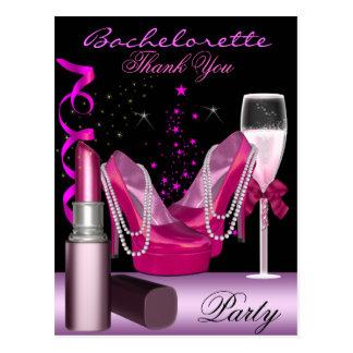 Cartão Postal O rosa do batom da festa de solteira calça