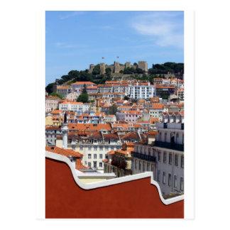 Cartão Postal O Rossio e a Colina do Castelo, Lisboa, Portugal
