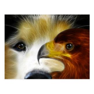 Cartão Postal O rouco e a águia poderosos