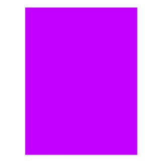 Cartão Postal O roxo contínuo da cor do fundo cria seu próprio