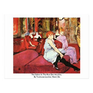 Cartão Postal O salão de beleza no DES Moulins da rua