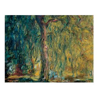 Cartão Postal O salgueiro Weeping de Claude Monet