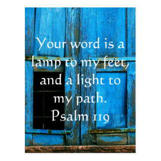 Cartão Postal O salmo 119 sua palavra é uma lâmpada a meus pés