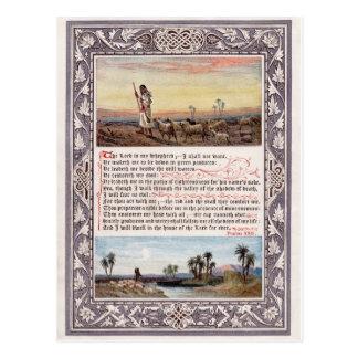 """Cartão Postal O salmo 23"""" o senhor é meu pastor """""""