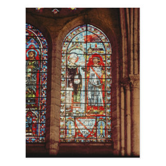 Cartão Postal O santo Denis dá o oriflamme a clemente