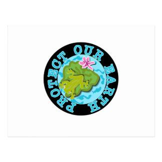 Cartão Postal O sapo protege nossa terra