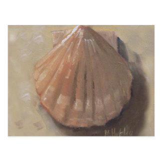 Cartão Postal O Scallop Shell encalha o Seashell