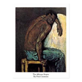 Cartão Postal O Scipio africano por Paul Cezanne