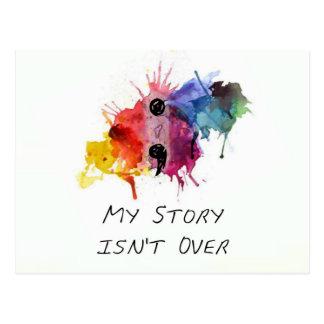 Cartão Postal O semicolon minha história não se acaba