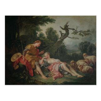 Cartão Postal O Shepherdess de sono
