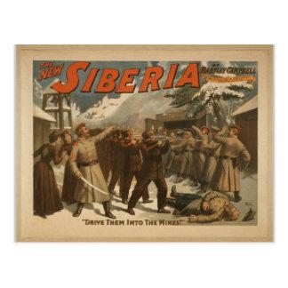 Cartão Postal O Sibéria novo, 'condu-los nas minas! '