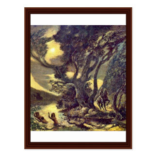 Cartão Postal O Siegfried e as donzelas de Rhine