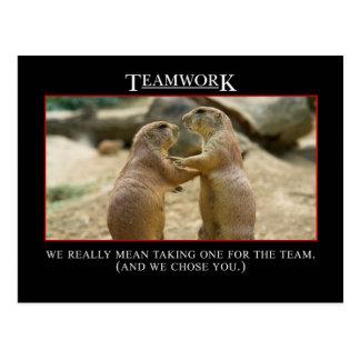 Cartão Postal O significado real dos trabalhos em equipe