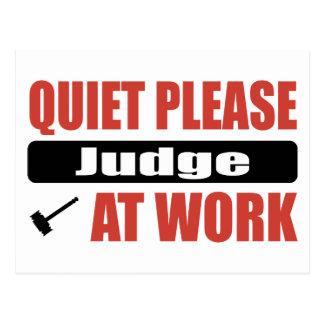 Cartão Postal O silêncio julga por favor no trabalho