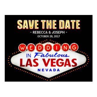 Cartão Postal O sinal de néon de Las Vegas - salvar o casamento