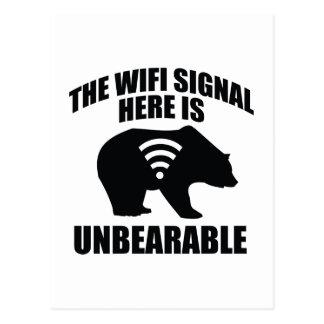 Cartão Postal O sinal de Wifi aqui é insuportável