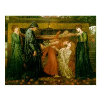 Cartão Postal O sonho de Dante por Dante Gabriel Rossetti
