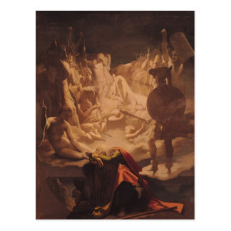 Cartão Postal O sonho de Ossian, 1813