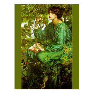 Cartão Postal O sonho do dia por Dante Gabriel Rossetti