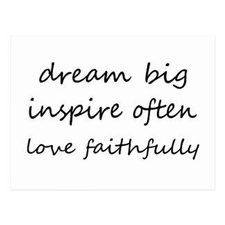Cartão Postal O sonho inspira o amor