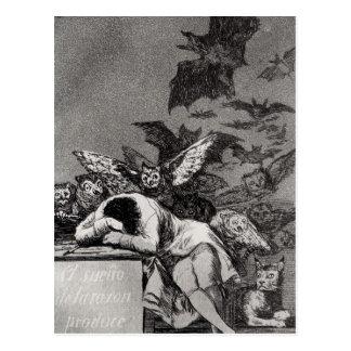 Cartão Postal O sono da razão produz monstro